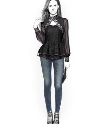 Выкройка: кружевная блузка арт. ВКК-635-1-ЛК0004388