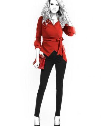 Выкройка: блузка с фигурным бортом арт. ВКК-1358-1-ЛК0004395