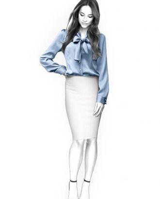 Выкройка: блузка с бантом арт. ВКК-644-1-ЛК0004406