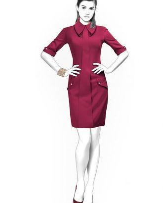 Выкройка: платье со складкой арт. ВКК-1578-1-ЛК0004410