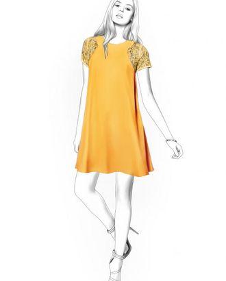 Выкройка: платье с кружевом арт. ВКК-339-1-ЛК0004428