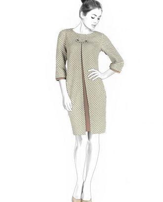 Выкройка: платье с декоративной складкой арт. ВКК-2019-1-ЛК0004430