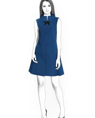 Выкройка: платье со стойкой арт. ВКК-757-1-ЛК0004460