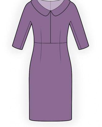 Выкройка: платье с цельнокроеным рукавом арт. ВКК-424-1-ЛК0004472
