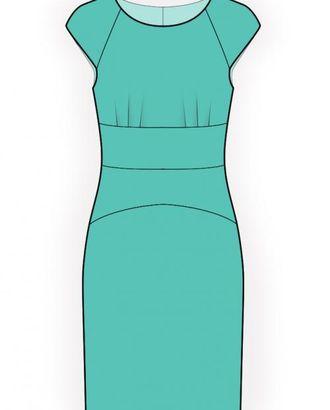 Выкройка: платье с коротким рукавом арт. ВКК-1962-1-ЛК0004481