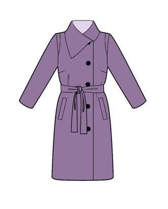 Выкройка: пальто с воротником арт. ВКК-568-1-ЛК0004483