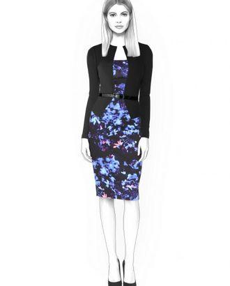 Выкройка: платье с имитацией жакета арт. ВКК-502-1-ЛК0004487