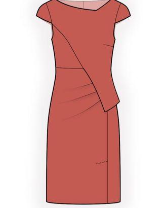 Выкройка: платье с асимметричной баской арт. ВКК-2043-1-ЛК0004490