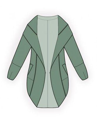 Выкройка: пальто-накидка арт. ВКК-1232-1-ЛК0004491