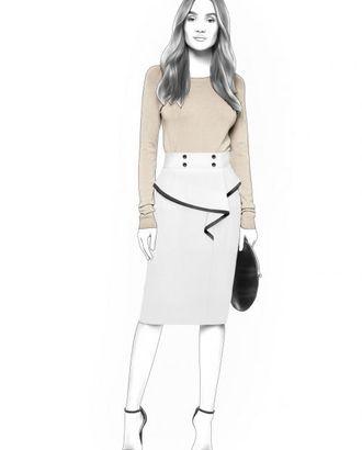 Выкройка: юбка с завышенной талией арт. ВКК-1924-1-ЛК0004503