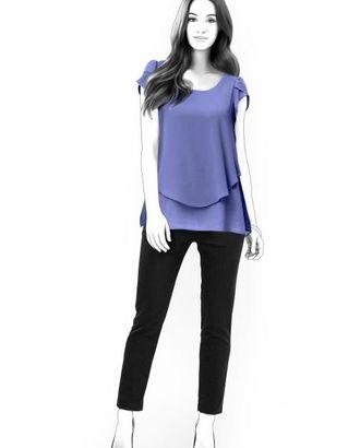 Выкройка: двухслойная блузка арт. ВКК-1274-1-ЛК0004523