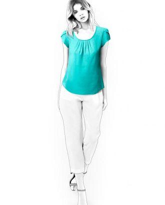 Выкройка: блузка с декоративным рукавом арт. ВКК-1069-1-ЛК0004548