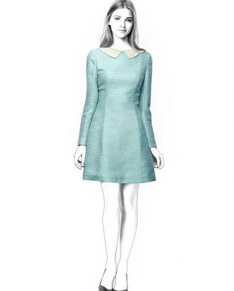 Выкройка: короткое расклешеное платье арт. ВКК-243-1-ЛК0004552