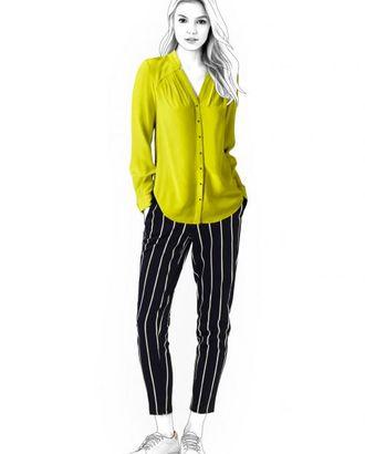Выкройка: блузка с длинным рукавом арт. ВКК-1125-1-ЛК0004555