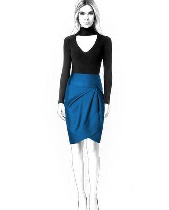 Выкройка: юбка со складками арт. ВКК-1626-1-ЛК0004561