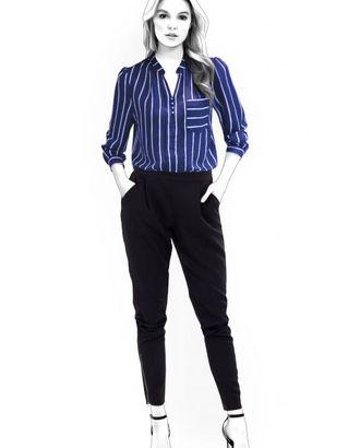 Выкройка: блузка со стойкой арт. ВКК-811-1-ЛК0004563