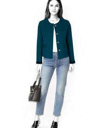Выкройка: короткое пальто арт. ВКК-889-1-ЛК0004583