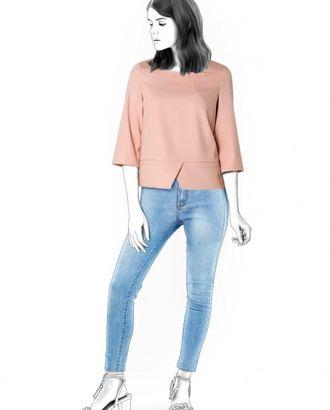 Выкройка: блузка с прямоугольным вырезом арт. ВКК-1204-1-ЛК0004596