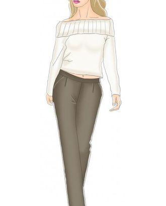 Выкройка: брюки с наклонными карманами арт. ВКК-1480-1-ЛК0005003
