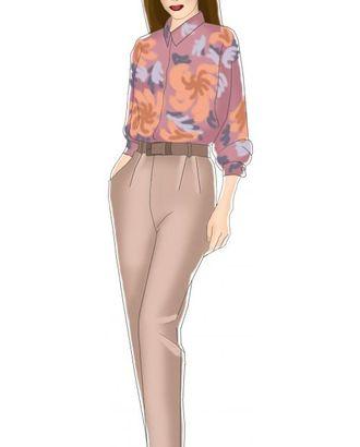 Выкройка: брюки с наклонными карманами и защипом арт. ВКК-633-1-ЛК0005004