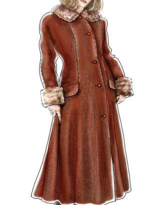 Выкройка: длинное пальто с цельновыкроенным рукавом арт. ВКК-410-1-ЛК0005007