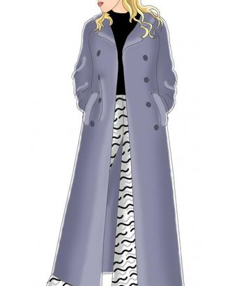 Выкройка: длинное пальто с рукавом реглан арт. ВКК-1746-1-ЛК0005022