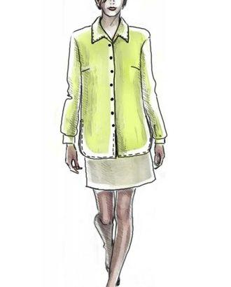 """Выкройка: блузка с воротником """"апаш"""" арт. ВКК-1295-1-ЛК0005033"""