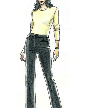 Выкройка: брюки в тонкую полоску арт. ВКК-1375-1-ЛК0005037