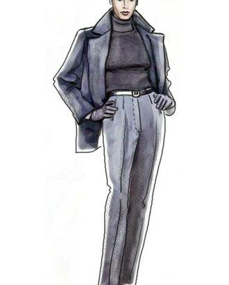 Выкройка: серые брюки арт. ВКК-898-1-ЛК0005055