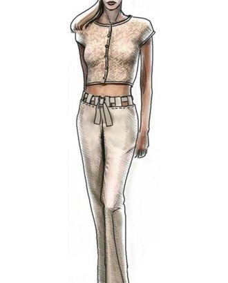 Выкройка: шелковые брюки арт. ВКК-226-1-ЛК0005061
