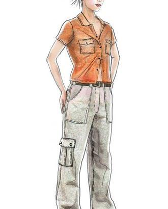 Выкройка: брюки с накладными карманами арт. ВКК-1926-1-ЛК0005066
