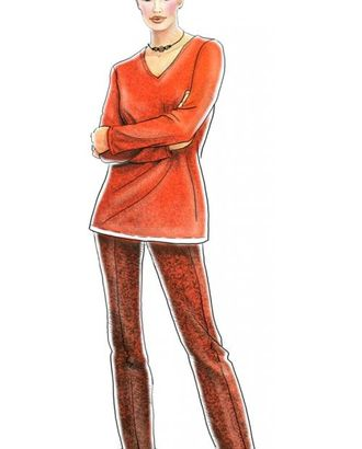 Выкройка: брюки с широкими отворотами арт. ВКК-1209-1-ЛК0005067