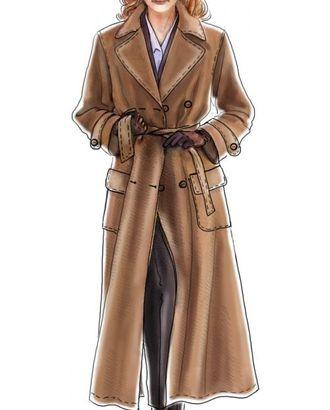 Выкройка: двубортное пальто с одношовным рукавом арт. ВКК-783-1-ЛК0005069