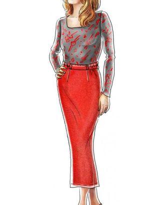 Выкройка: длинная прямая юбка арт. ВКК-289-1-ЛК0005084