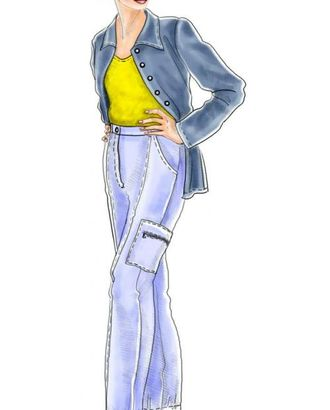 """Выкройка: брюки """"карго"""" арт. ВКК-2045-1-ЛК0005100"""