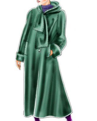 Выкройка: пальто с рукавом полуреглан и шарфом-капюшоном арт. ВКК-1183-1-ЛК0005108