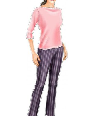 Выкройка: темно-серые брюки в полоску арт. ВКК-565-1-ЛК0005117