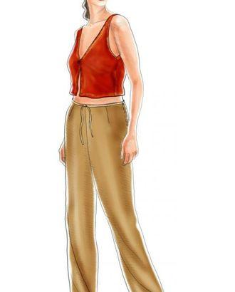 Выкройка: широкие брюки в пижамном стиле арт. ВКК-1360-1-ЛК0005119