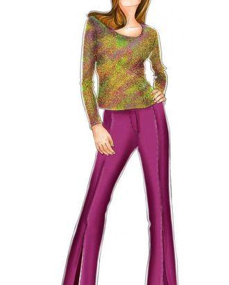 Выкройка: брюки клеш с рельефами и разрезами арт. ВКК-1977-1-ЛК0005127