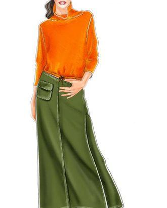 Выкройка: юбка с клином и карманом арт. ВКК-1006-1-ЛК0005152