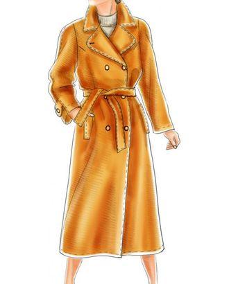 Выкройка: двубортное пальто с рукавом полуреглан арт. ВКК-1861-1-ЛК0005156