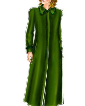Выкройка: зеленое пальто полуреглан арт. ВКК-237-1-ЛК0005164