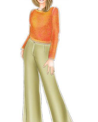Выкройка: расширенные брюки арт. ВКК-1294-1-ЛК0005173