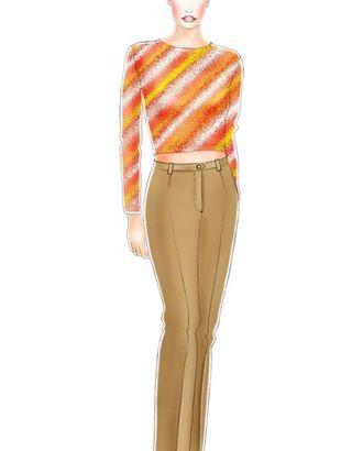 Выкройка: шелковые брюки арт. ВКК-606-1-ЛК0005178