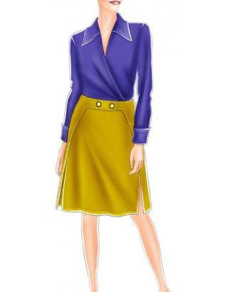 Выкройка: юбка с декоративной застежкой-поясом арт. ВКК-1501-1-ЛК0005181