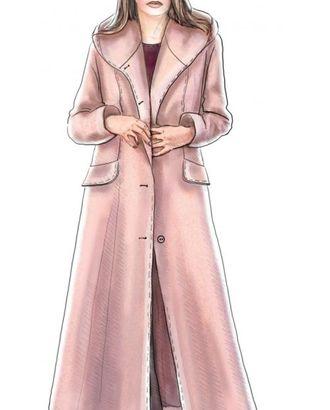 Выкройка: длинное пальто с капюшоном арт. ВКК-458-1-ЛК0005186