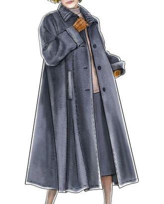 Выкройка: пальто с рукавом полуреглан арт. ВКК-595-1-ЛК0005187