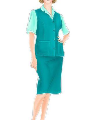Выкройка: костюм для работников сферы услуг (жилет) арт. ВКК-1800-1-ЛК0005220