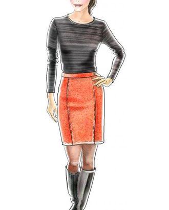 Выкройка: юбка прямая пятишовная арт. ВКК-1425-1-ЛК0005268