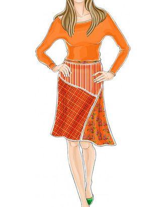 Выкройка: юбка с асимметричным членением арт. ВКК-1310-1-ЛК0005269